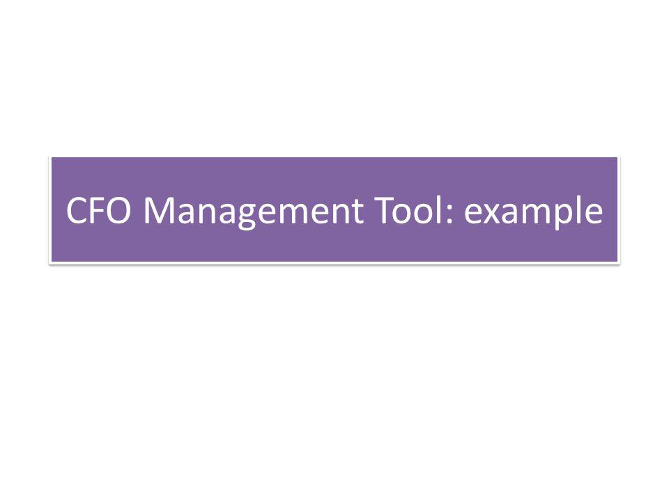 CFO Management Tool: example