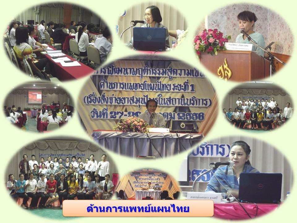 ด้านการแพทย์แผนไทยด้านการแพทย์แผนไทย