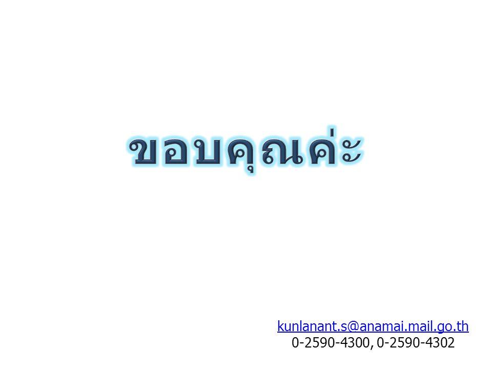 kunlanant.s@anamai.mail.go.th 0-2590-4300, 0-2590-4302