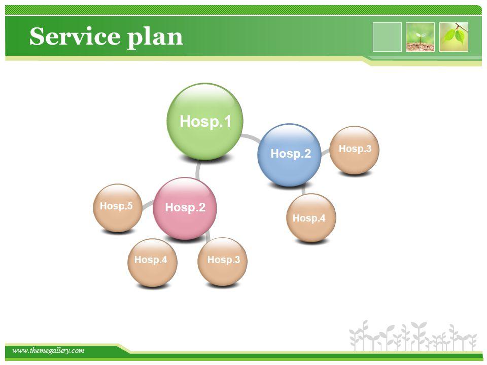 www.themegallery.com Hosp.2 Hosp.3 Hosp.1 Service plan Hosp.4 Hosp.2 Hosp.5 Hosp.4Hosp.3