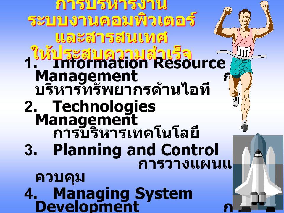 การบริหารงาน ระบบงานคอมพิวเตอร์ และสารสนเทศ ให้ประสบ ความสำเร็จ Mobile: 01-6434333 Mobile: 01-6434333 E-mail :suriyon@schq.mi.th E-mail :suriyon@schq.