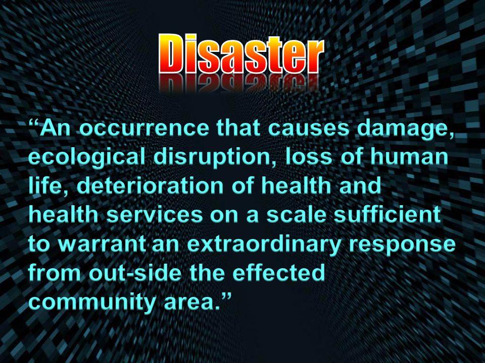 http://en.wikipedia.org/wiki/Disaster_management