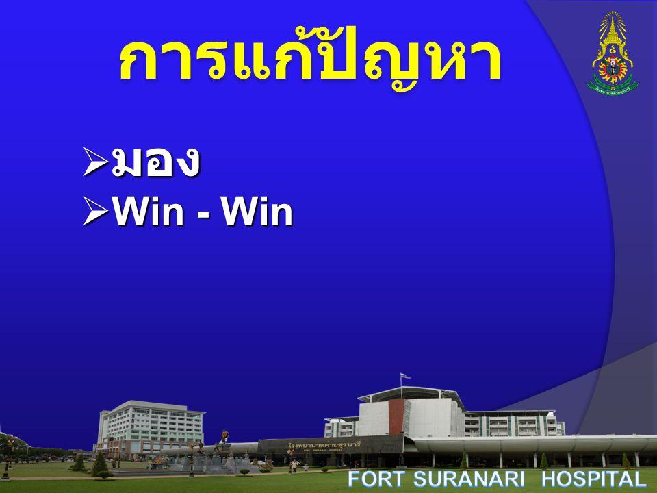 การแก้ปัญหา  มอง  Win - Win