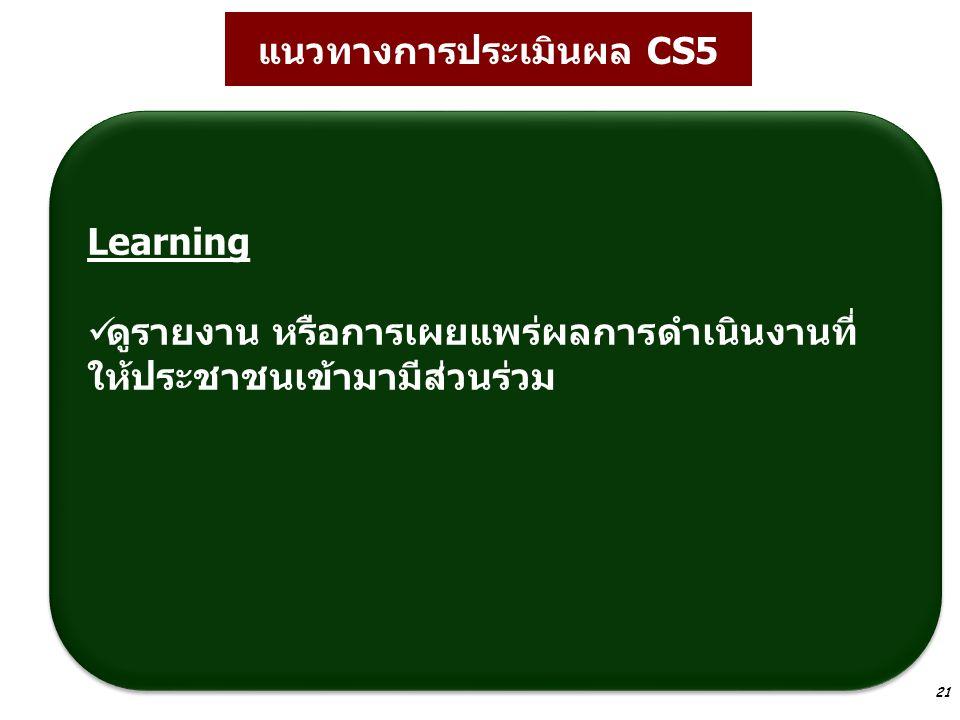 21 Learning ดูรายงาน หรือการเผยแพร่ผลการดำเนินงานที่ ให้ประชาชนเข้ามามีส่วนร่วม Learning ดูรายงาน หรือการเผยแพร่ผลการดำเนินงานที่ ให้ประชาชนเข้ามามีส่