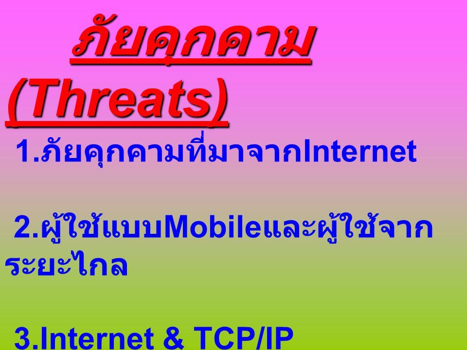 วิธีการโจมตี 1.การเจาะระบบด้วยการหา Account และ รหัสผ่านผู้ใช้ 2.