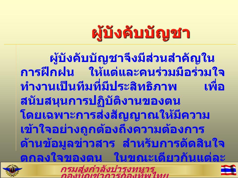 วิสัยทัศน์กองบัญชาการกองทัพ ไทย กองบัญชาการกองทัพไทย เป็น กองบัญชาการร่วมในการป้องกัน ประเทศ ปกป้องสถาบันพระมหากษัตริย์ และควบคุมการปฏิบัติการของเหล่าทัพ อย่างมีประสิทธิภาพ มีความทันสมัย เป็น ที่เชื่อมั่นศรัทธาของประชาชนและมิตร ประเทศ กรมส่งกำลังบำรุงทหาร กองบัญชาการกองทัพไทย