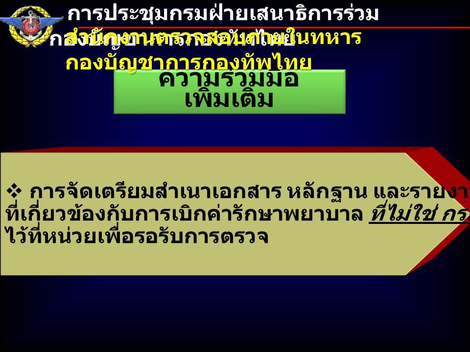 จบการชี้แจง การประชุมกรมฝ่ายเสนาธิการร่วม กองบัญชาการกองทัพไทย การประชุมกรมฝ่ายเสนาธิการร่วม กองบัญชาการกองทัพไทย สำนักงานตรวจสอบภายในทหาร กองบัญชาการกองทัพไทย