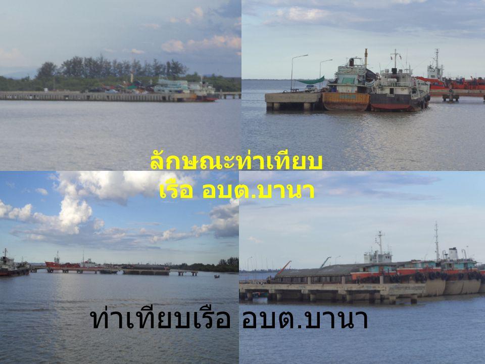 ท่าเทียบเรือ อบต. บานา ลักษณะท่าเทียบ เรือ อบต. บานา