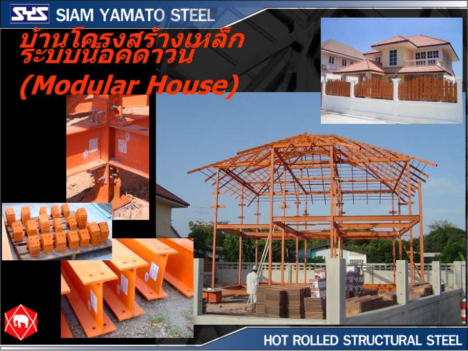 บ้านโครงสร้างเหล็ก ระบบน็อคดาวน์ (Modular House)