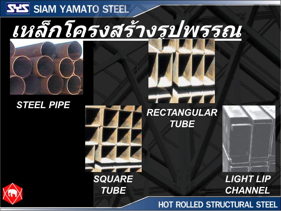 เหล็กโครงสร้างรูปพรรณ รีดเย็น STEEL PIPE RECTANGULAR TUBE SQUARE TUBE LIGHT LIP CHANNEL