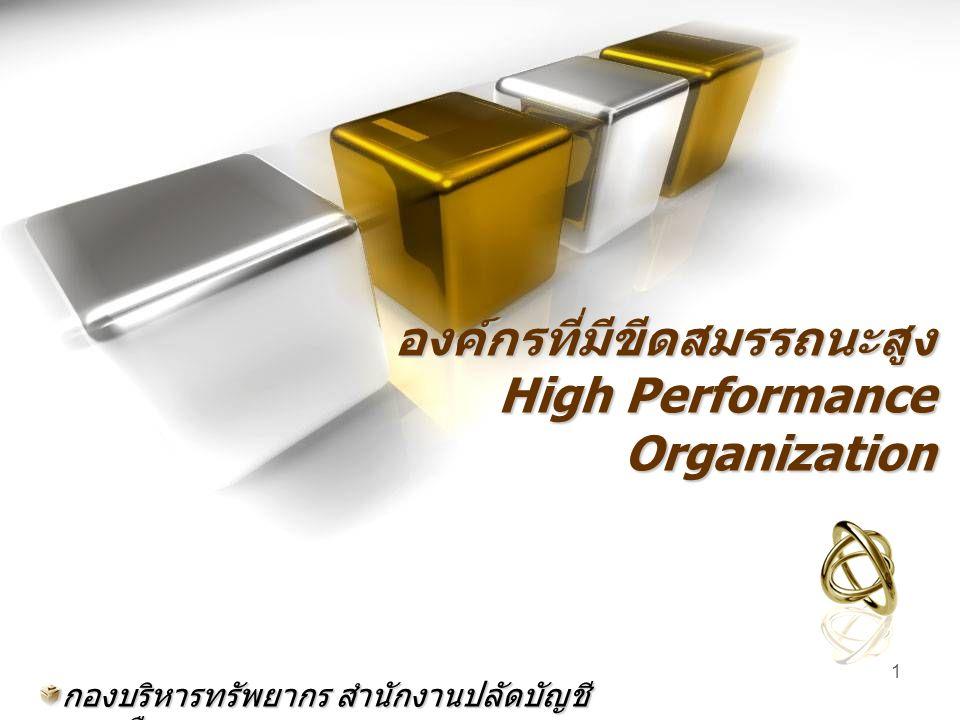1 องค์กรที่มีขีดสมรรถนะสูง High Performance Organization กองบริหารทรัพยากร สำนักงานปลัดบัญชี ทหารเรือ