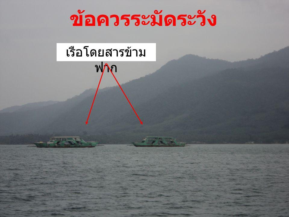 ข้อควรระมัดระวัง เรือโดยสารข้าม ฟาก