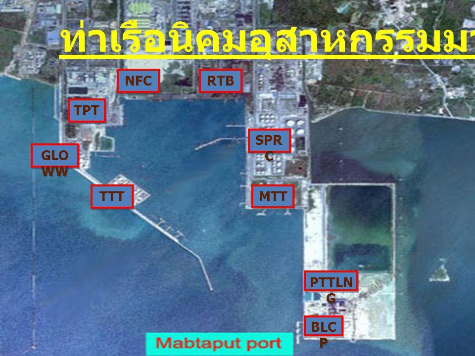 MTT SPR C RTB NFC TPT GLO WW TTT BLC P PTTLN G ท่าเรือนิคมอุสาหกรรมมาบตาพุด