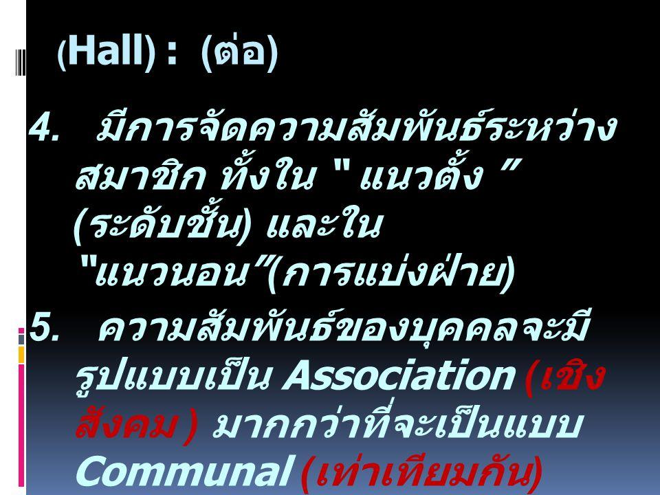 ( Hall) : ( ต่อ ) 4.
