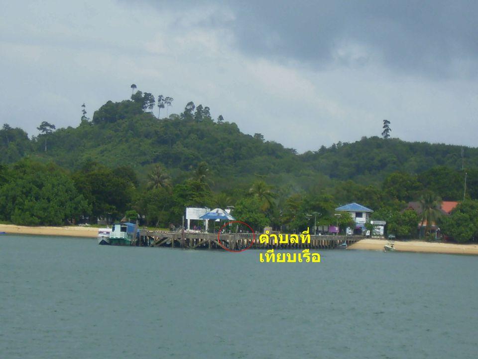 ภาพถ่ายแสดงการเทียบเรือท่าเทียบเรือ เกาะพยาม จ. ระนอง