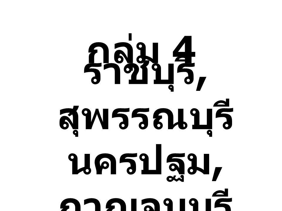 กลุ่ม 4 ราชบุรี, สุพรรณบุรี นครปฐม, กาญจนบุรี