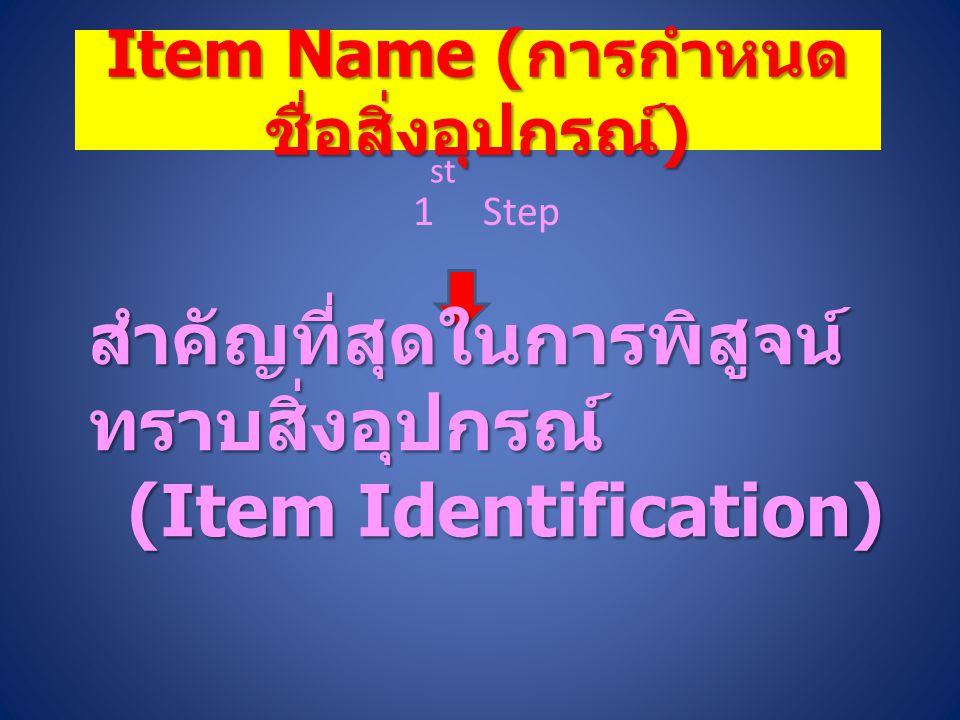 องค์ประกอบของระบบ NCS การกำหนดชื่อสิ่งอุปกรณ์ (Item Name) การกำหนดชื่อสิ่งอุปกรณ์ (Item Name) การจัดประเภทสิ่งอุปกรณ์ (Classification) การจัดประเภทสิ่