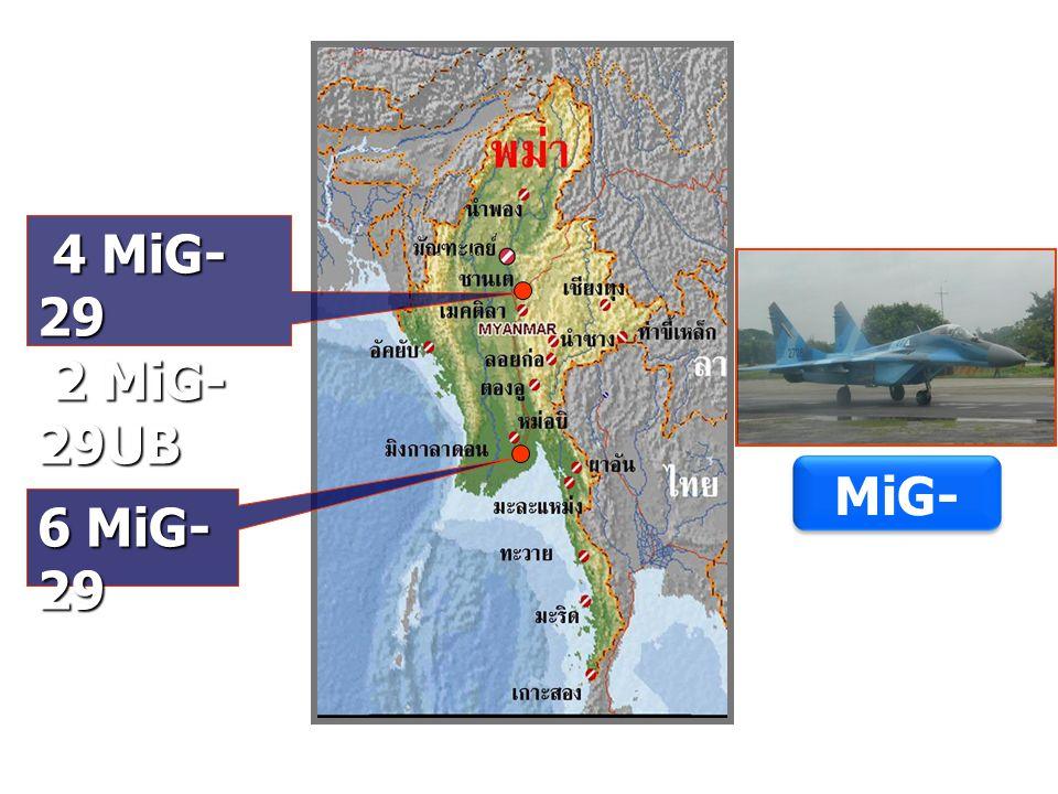 6 MiG- 29 4 MiG- 29 4 MiG- 29 2 MiG- 29UB 2 MiG- 29UB MiG- 29