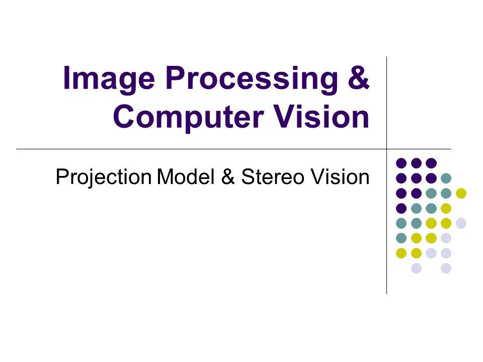 Projection Model Computer Graphic (X,Y,Z) = 3D Coordinate (X,Y) = 2D Coordinate
