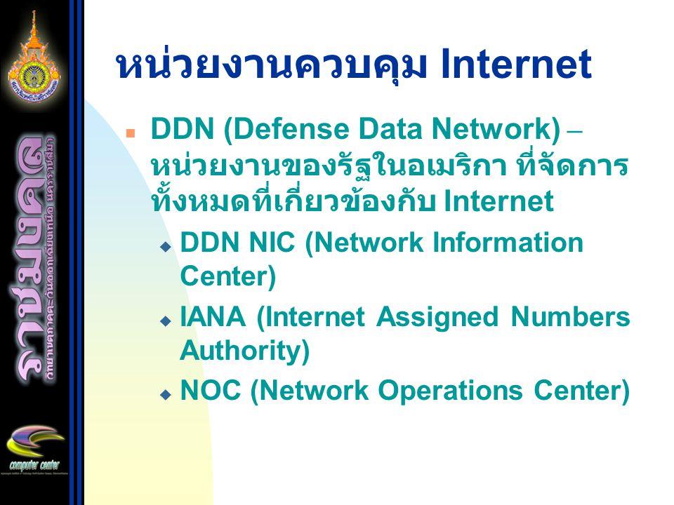 ลำดับของการเกิดมาตรฐาน Internet Draft Proposed Standard Draft Standard Official Standard RFC
