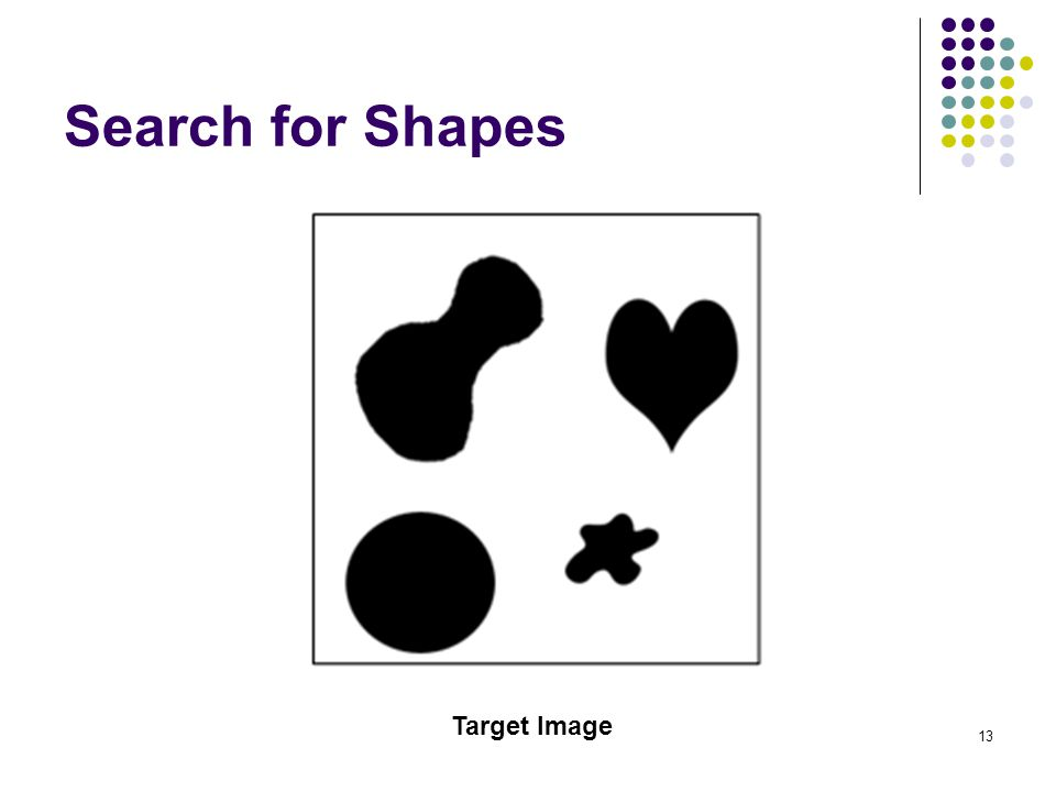 13 Search for Shapes Target Image