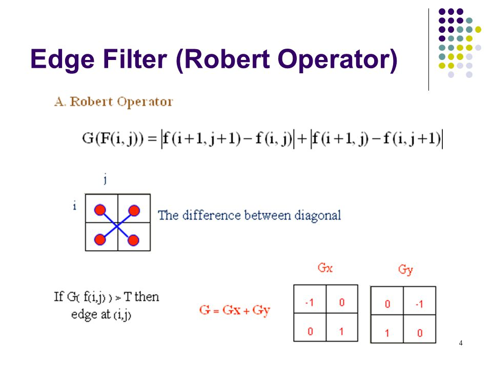 4 Edge Filter (Robert Operator)