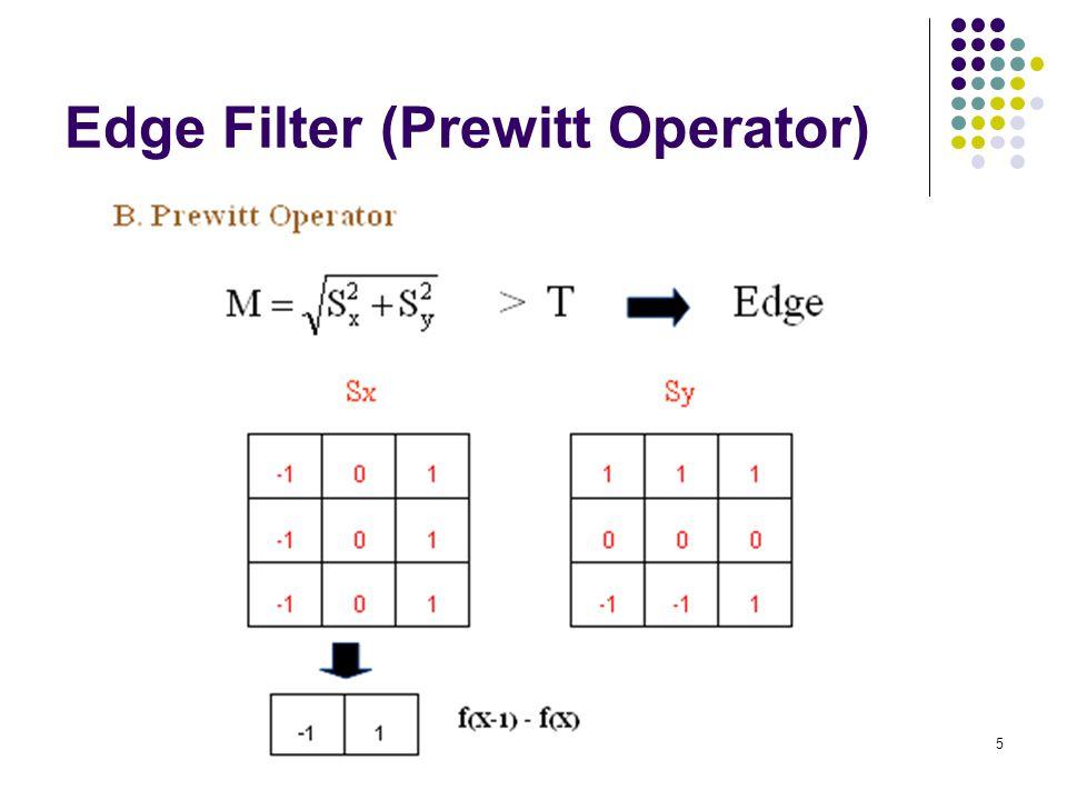 5 Edge Filter (Prewitt Operator)