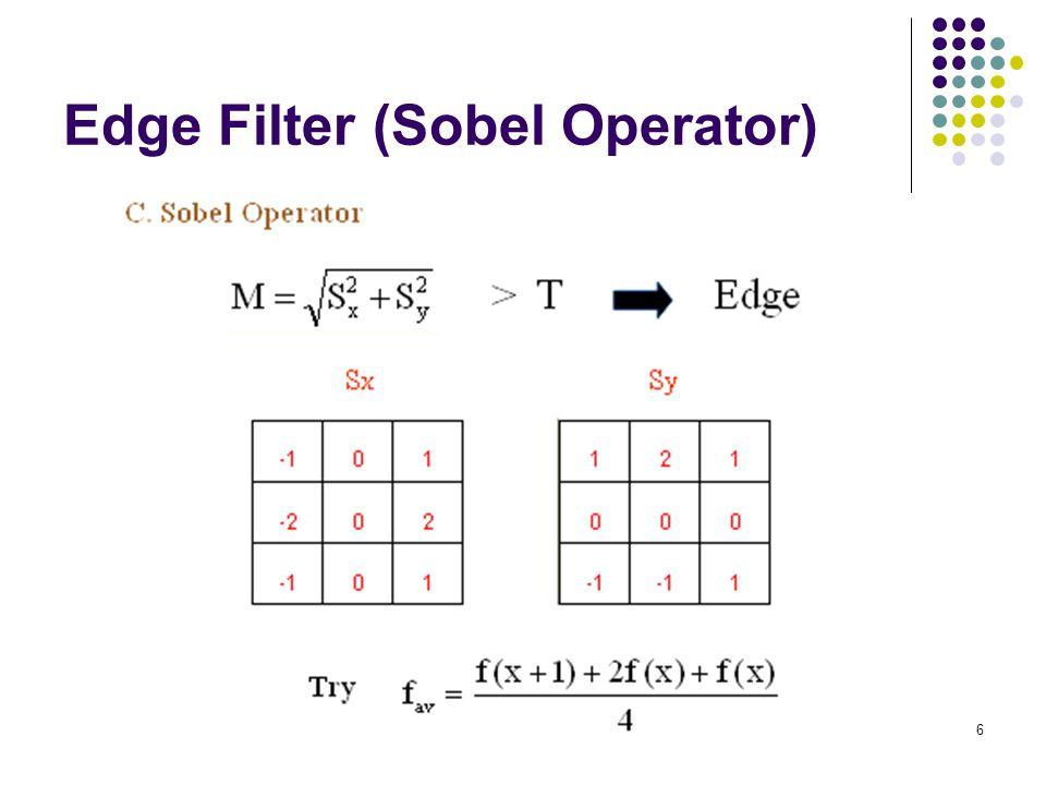 6 Edge Filter (Sobel Operator)