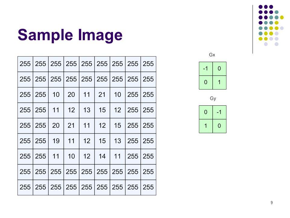 10 Generalized Hough Transform ใช้สำหรับหารูปร่าง ๆ ใด ภายในภาพเป้าหมาย (Target Image) ซึ่งประกอบด้วย 2 ส่วนใหญ่ ๆ คือ 1.