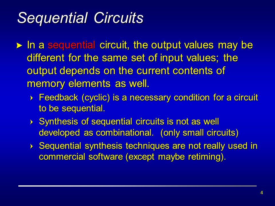 5 State  เนื่องจากเอาท์พุตของ Sequential Circuit นอกจากจะขึ้นอยู่กับอินพุต ปัจจุบันแล้ว ยังขึ้นกับค่าของอินพุตในอดีตด้วย ดังนั้น การแสดง เอาท์พุตโดยใช้ตารางค่าความจริงจะทำได้ยาก นิยมแสดงในลักษณะของ สถานะ หรือ State มากกว่า  State คือ ชุดของตัวแปรสถานะ (State Variables) ซึ่งมีข้อมูลเกี่ยวกับ อดีตของวงจรเพียงพอที่จะบ่งบอกถึงการทำงานของวงจรในอนาคตได้  ตัวอย่าง ในรีโมต TV ที่มีปุ่มเลื่อนช่องขึ้น-ลง สถานะของวงจรควบคุม ของ TV คือ ช่องปัจจุบัน โดยสถานะนี้อาจเก็บอยู่ในตัวแปรสถานะ แบบไบนารี 7 บิต ซึ่งเก็บค่าได้ตั้งแต่ 0 ถึง 127