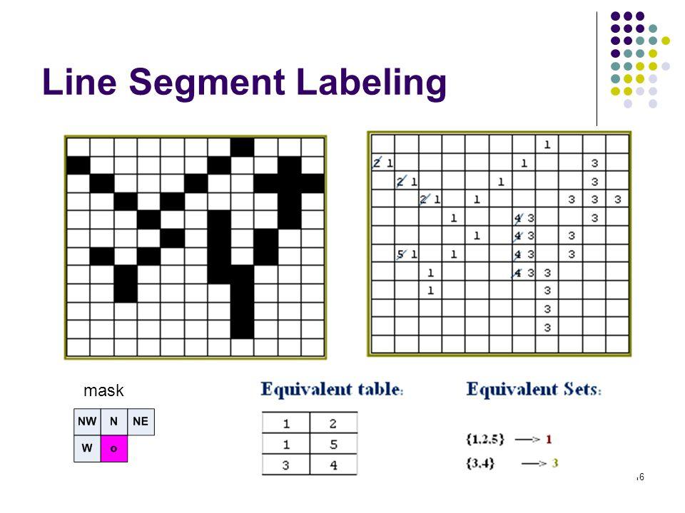 16 Line Segment Labeling mask