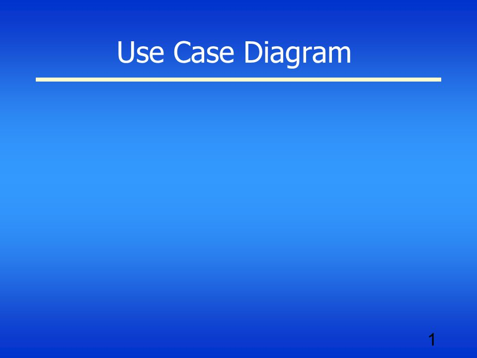 1 Use Case Diagram