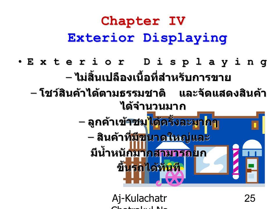 Aj-Kulachatr Chatrakul Na Ayudhaya Ch-4 25 Chapter IV Exterior Displaying Exterior DisplayingExterior Displaying – ไม่สิ้นเปลืองเนื้อที่สำหรับการขาย –