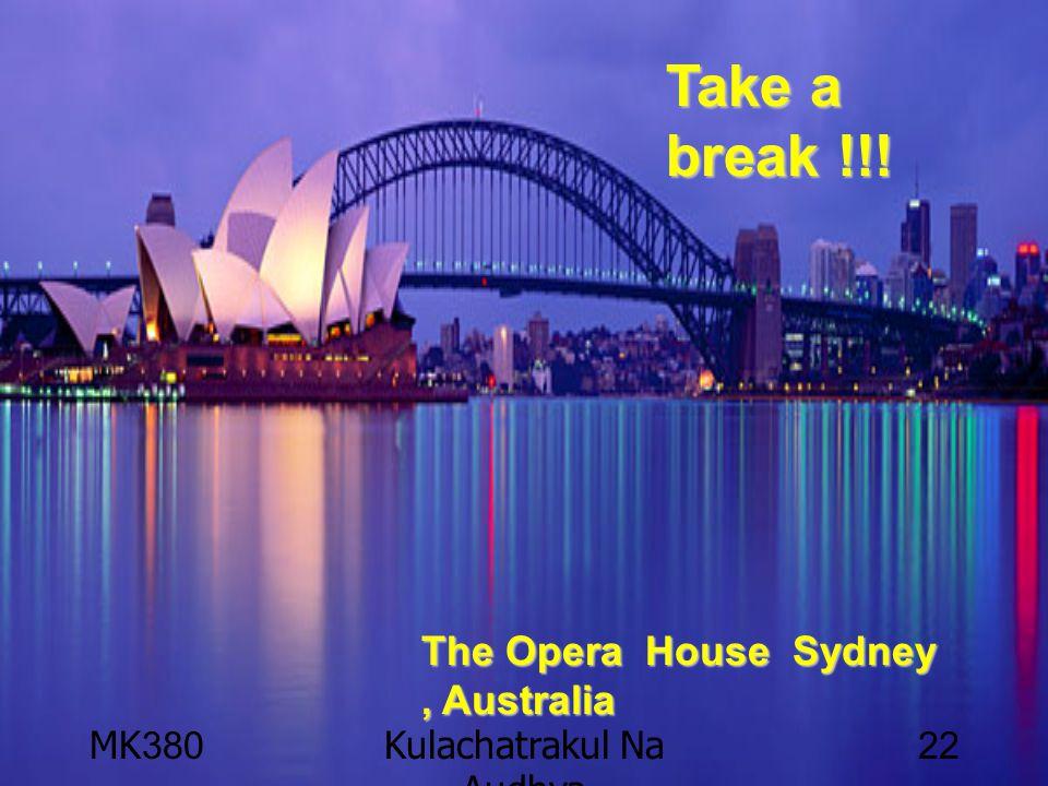 MK380Kulachatrakul Na Audhya 22 Take a break !!! The Opera House Sydney, Australia