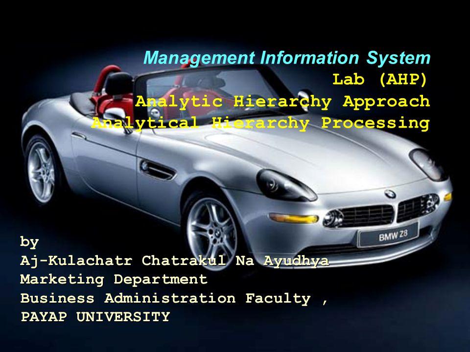 Aj-Kulachatr Chatrakul Na Ayudhya Marketing Department Business Administration Faculty, PAYAP UNIVERSITY by Aj-Kulachatr Chatrakul Na Ayudhya Marketin