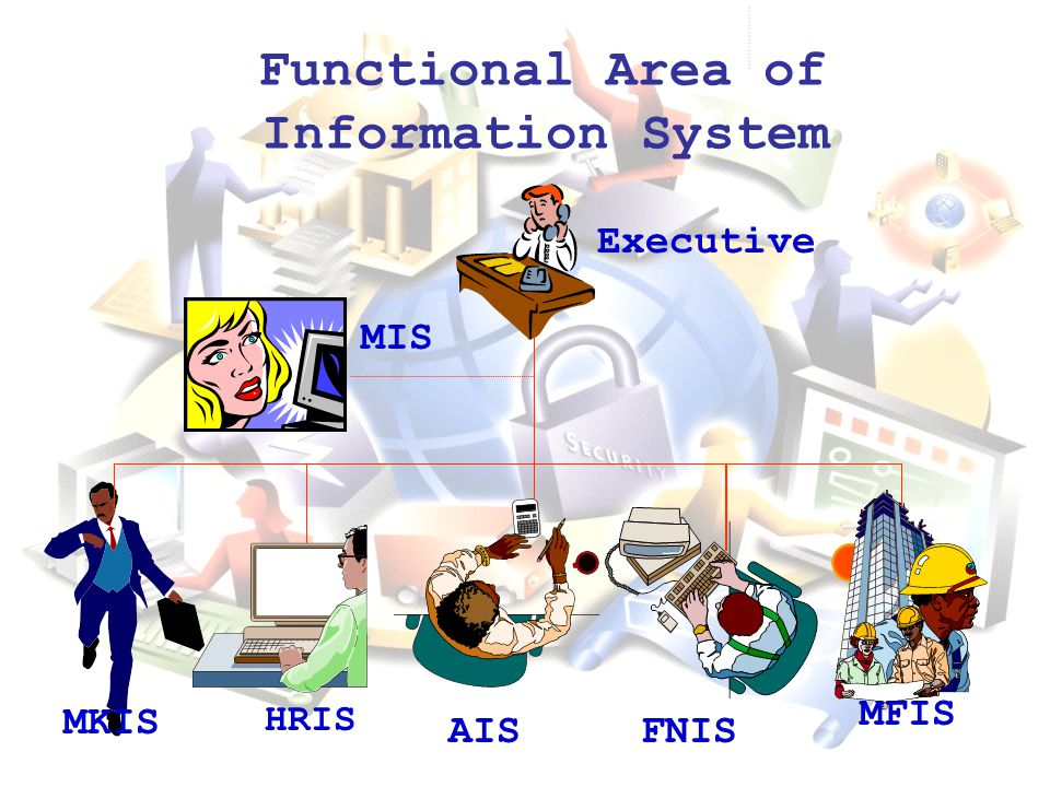 Functional Area of Information System AIS MKIS HRIS FNIS MFIS MIS Executive