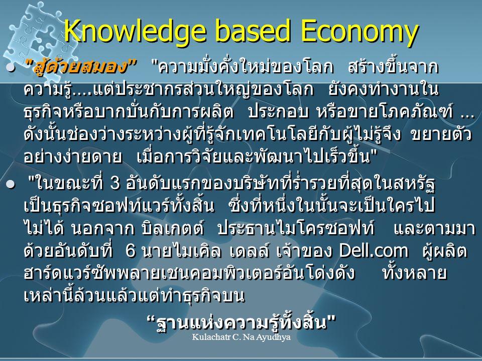 Kulachatr C. Na Ayudhya Knowledge based Economy