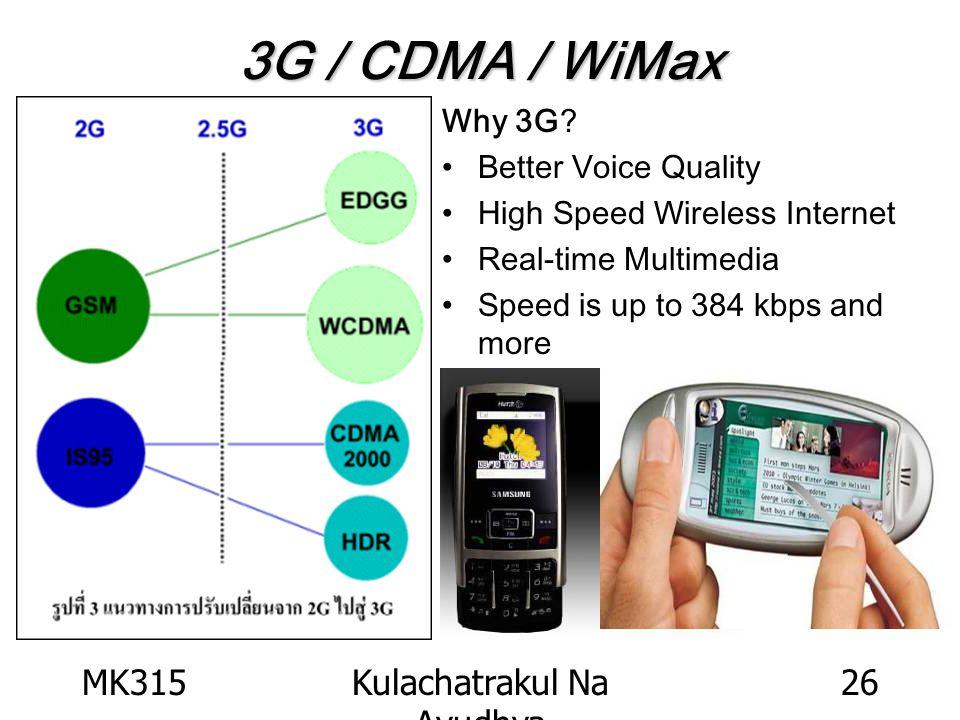 MK315Kulachatrakul Na Ayudhya 26 3G / CDMA / WiMax Why 3G.