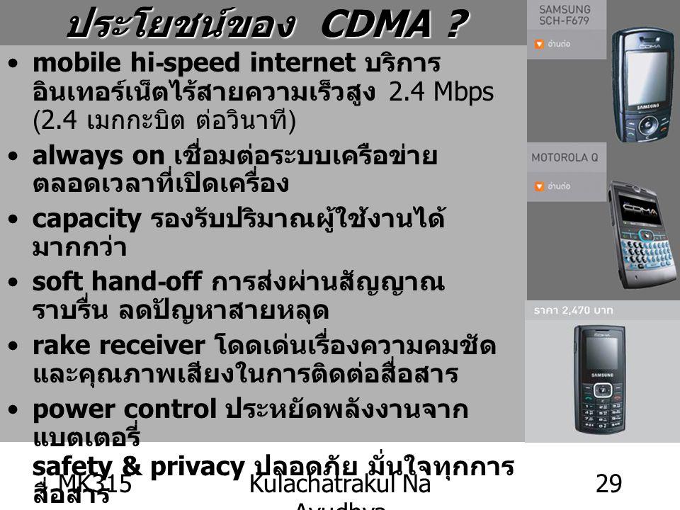 MK315Kulachatrakul Na Ayudhya 29 mobile hi-speed internet บริการ อินเทอร์เน็ตไร้สายความเร็วสูง 2.4 Mbps (2.4 เมกกะบิต ต่อวินาที ) always on เชื่อมต่อร