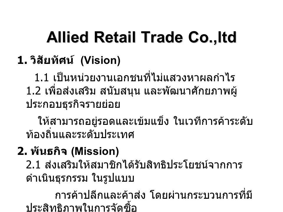 Allied Retail Trade Co.,ltd 3.วัตถุประสงค์ 3.1.