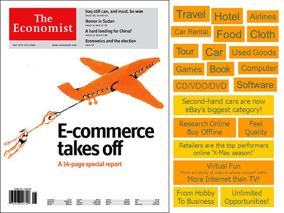 ตัวอย่าง e-Commerce ประเภท Brokerage ตัวอย่าง e-Commerce ประเภท Brokerage 1.e-MarketPlace: Foodmarketexchange.com 2.Buy/Sell Fulfillment: CarsDirect.com 3.Demand Collection System: Priceline.com 4.Auction Broker: e-Bay.com 5.Transaction Broker: PayPal.com 6.Distributor: Questlink.com 7.Search Agent: DealTime.com 8.Virtual Mall: ChoiceMall.com Website ที่มีรายได้จากค่าบริการในการทำหน้าที่เป็นตัวกลางหรือ นายหน้าทางธุรกิจ อาทิ ผู้หาตลาด หาผู้ซื้อ หาผู้ขาย จับคู่ผู้ซื้อ-ผู้ขาย อำนวยให้ผู้ซื้อพบสินค้าหรือบริการที่ต้องการ เป็นต้น