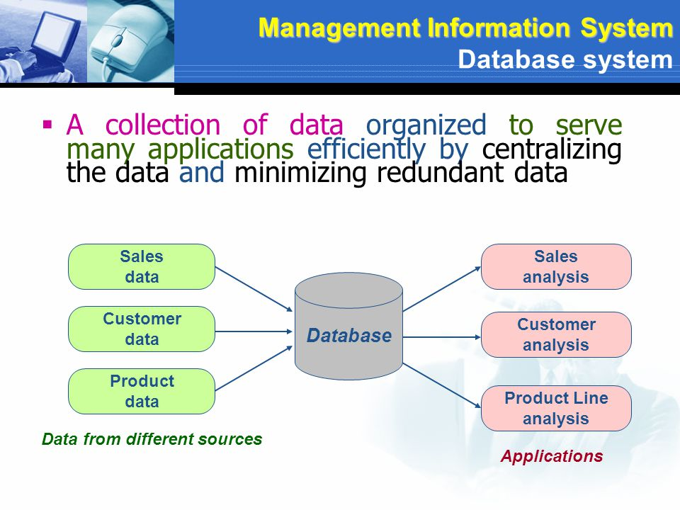 Hardware Software Data People Procedure DB Component Management Information System Component of Management Information System Component of Database System Base on Computer base information system (CBIS)