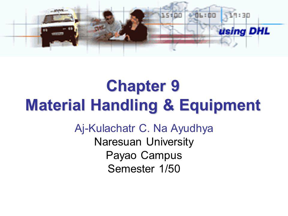 Chapter 9 Material Handling & Equipment Aj-Kulachatr C. Na Ayudhya Naresuan University Payao Campus Semester 1/50