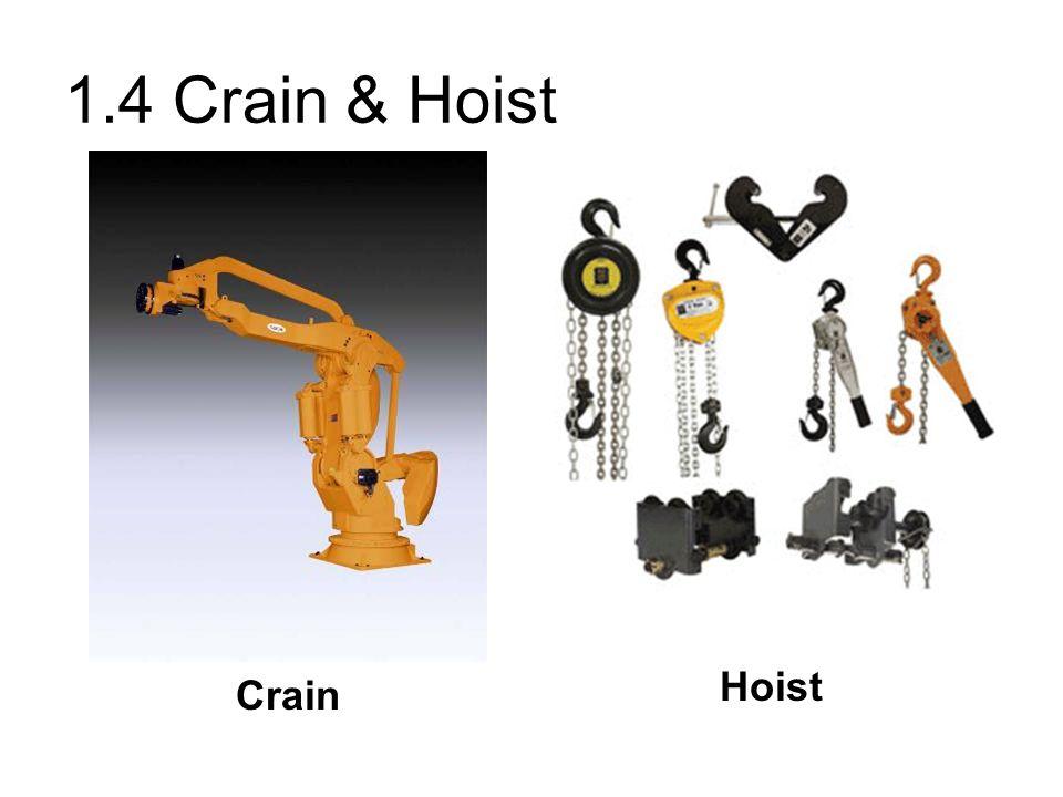 1.4 Crain & Hoist Crain Hoist