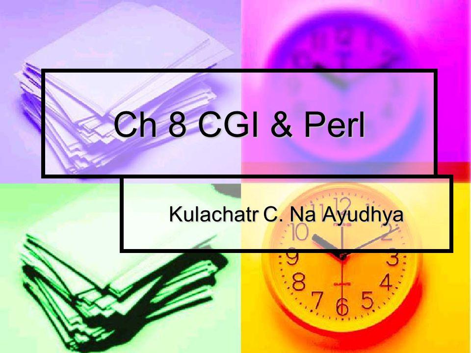 CGI ; Common Gateway Interface วิธีที่เครื่องคอมพิวเตอร์แม่ข่ายใช้ในการ โต้ตอบกับโปรแกรมคอมพิวเตอร์ โดยรับ ข้อมูลมาจากเครื่องลูกข่ายผ่านอินเทอร์เนต วิธีที่เครื่องคอมพิวเตอร์แม่ข่ายใช้ในการ โต้ตอบกับโปรแกรมคอมพิวเตอร์ โดยรับ ข้อมูลมาจากเครื่องลูกข่ายผ่านอินเทอร์เนต CGI Client Server