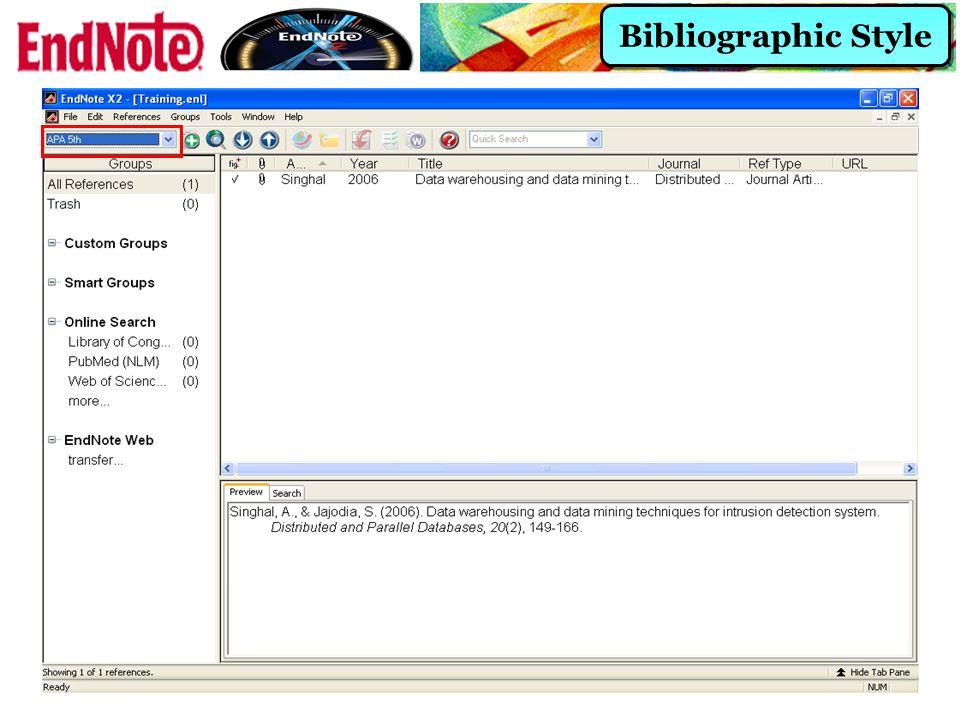 Bibliographic Style