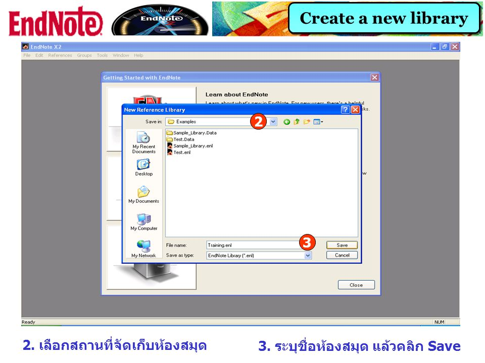 Direct Export 3 3. คลิกที่ Export directly to ProCite, EndNote…