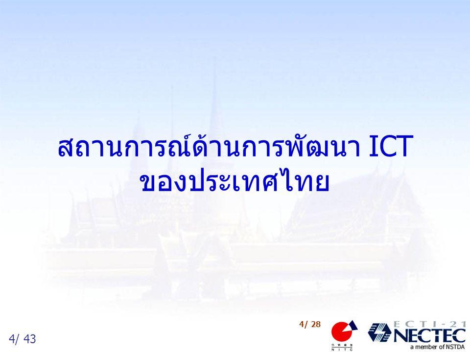 4/ 43 4/ 28 สถานการณ์ด้านการพัฒนา ICT ของประเทศไทย