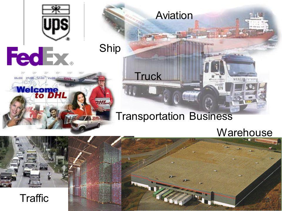 Warehouse Transportation Business Aviation Ship Truck Traffic