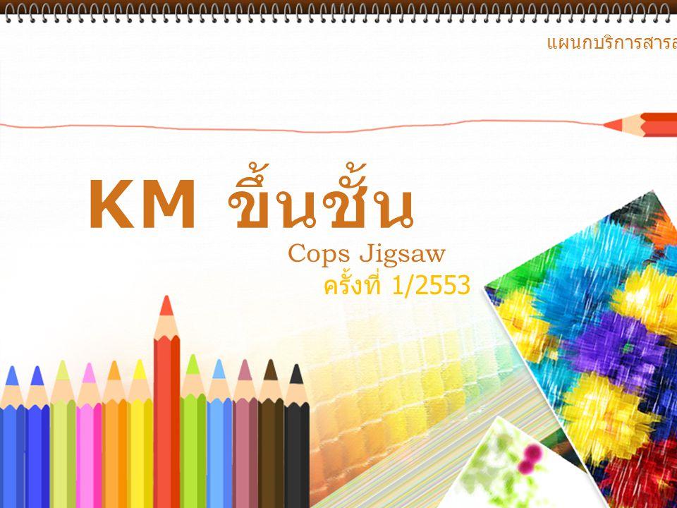 Cops Jigsaw ครั้งที่ 1/2553 แผนกบริการสารสนเทศ